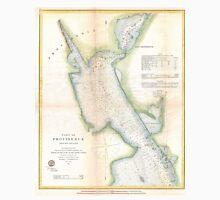 Vintage Port of Providence Rhode Island Map (1865) Unisex T-Shirt