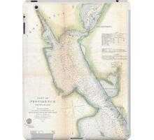 Vintage Port of Providence Rhode Island Map (1865) iPad Case/Skin