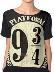 harry potter platform 9 3/4 Chiffon Top