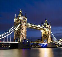 Tower Bridge at night, London by avresa