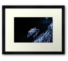 Bright Light - pale blue to white Framed Print