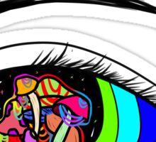 Mushroom Eye - Colourful Eye Illustration Sticker