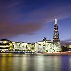 London Thames Cityscape at Sunset by avresa