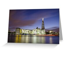 London Thames Cityscape at Sunset Greeting Card