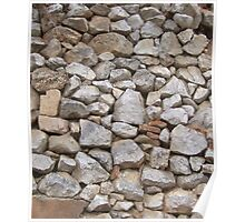 STONE WALL, Rock and a hard Place,  textures, Stonewall Jackson Poster
