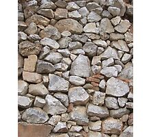 STONE WALL, Rock and a hard Place,  textures, Stonewall Jackson Photographic Print