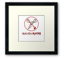 Skaven Slayer Framed Print