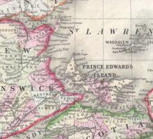 Vintage Nova Scotia and New Brunswick Map (1866) Sticker