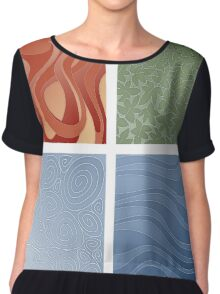 4 elements symbol - fire water air earth Chiffon Top