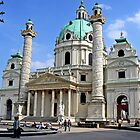 Karlskirche in Vienna by Graeme  Hyde