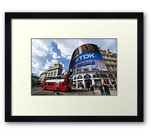 Piccadilly Circus in London Framed Print