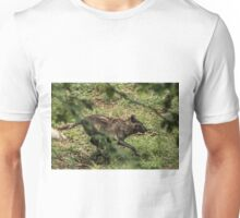 Black Wolf Running Unisex T-Shirt