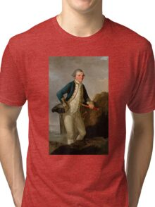 Captain James Cook Portrait Tri-blend T-Shirt