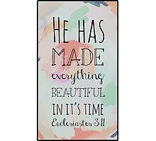 Christian Quote Photographic Print