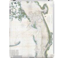 Vintage Map of The Mississippi Sound (1866) iPad Case/Skin