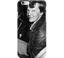 Amelia Earhart Sitting In Airplane Cockpit iPhone Case/Skin
