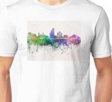 San Jose skyline in watercolor background Unisex T-Shirt
