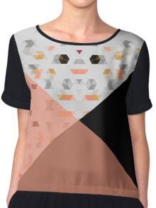 Little Triangles with Black and Salmon Chiffon Top