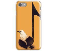 Born to sing - Orange iPhone Case/Skin