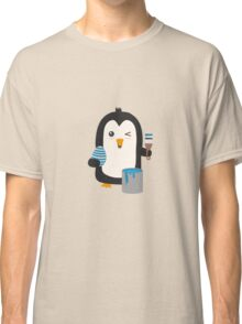 Penguin with egg   Classic T-Shirt