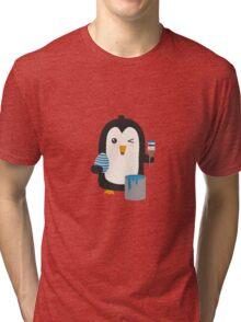 Penguin with egg   Tri-blend T-Shirt