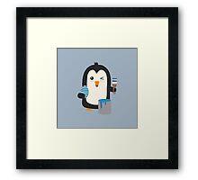 Penguin with egg   Framed Print