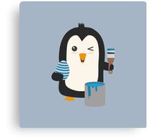 Penguin with egg   Canvas Print