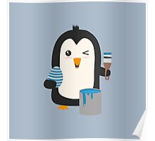 Penguin with egg   Poster