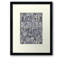 Lace on Nautical Navy Blue Framed Print