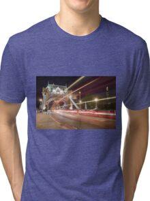 Tower Bridge at night, London Tri-blend T-Shirt