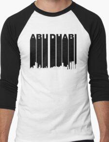 Retro Abu Dhabi Skyline Men's Baseball ¾ T-Shirt