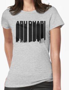 Retro Abu Dhabi Skyline Womens Fitted T-Shirt