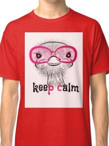 bird head ostrich lettering Classic T-Shirt