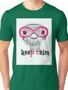 bird head ostrich lettering Unisex T-Shirt