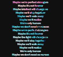 Jonas Blue feat. JP Cooper - Perfect Strangers lyrics Unisex T-Shirt
