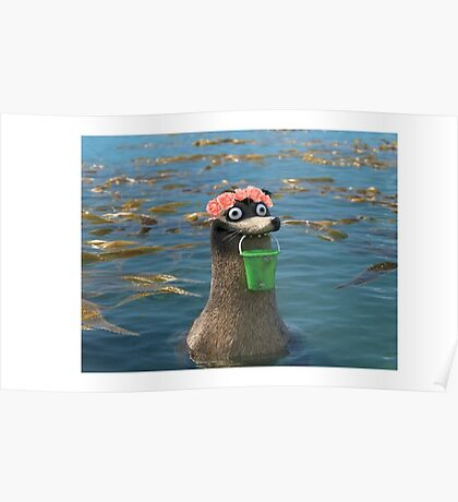 Gerald Finding Dory Flower Crown Poster