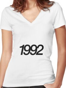 YEAR 1992 Women's Fitted V-Neck T-Shirt