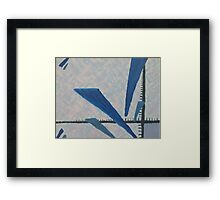 Simple Shards Analysis - Math Art Framed Print