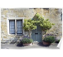 Typical Cotswolds house facade, UK Poster