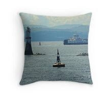 River Clyde At Dunoon with 2016 Calmac Ferry. Scotland Throw Pillow