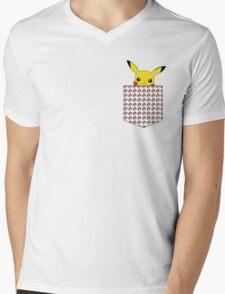 Pokemon pocket Mens V-Neck T-Shirt
