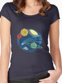 Space Emblem Women's Fitted Scoop T-Shirt