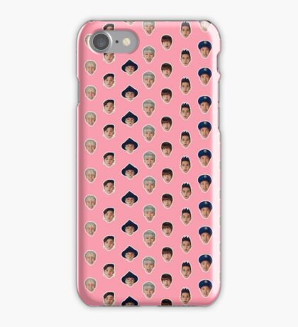 Block B pattern - pink. iPhone Case/Skin