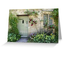 Typical Cotswolds house facade, UK Greeting Card