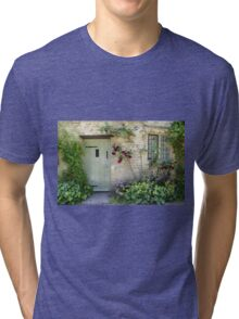 Typical Cotswolds house facade, UK Tri-blend T-Shirt