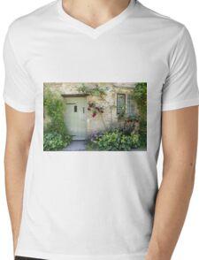 Typical Cotswolds house facade, UK Mens V-Neck T-Shirt