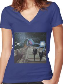 Clone Women's Fitted V-Neck T-Shirt