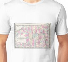 Vintage Map of The Adirondack Mountains (1867) Unisex T-Shirt