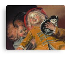 Laughing Children with Cat, after Judith Leyster Canvas Print