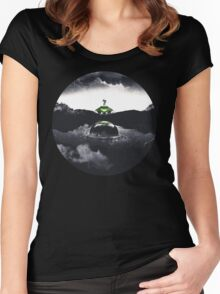 Landing on Zebes A Metroid Surrealism Women's Fitted Scoop T-Shirt
